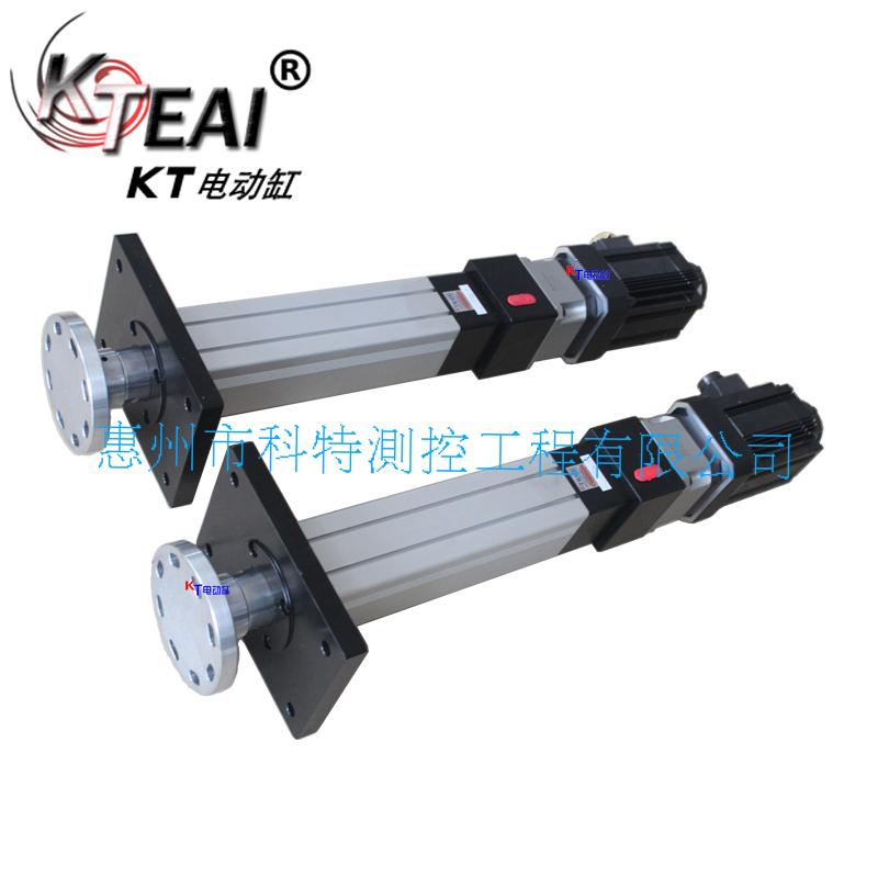 KT伺服電動缸,定制前法蘭闆,大推力,高往複定位精度