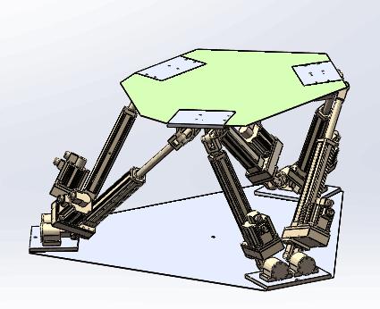 KT六自由度平台帶三維模型(圖紙)加工